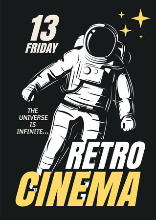 Vector posters of films in retro style.