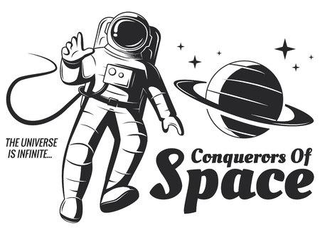Vector astronaut Illustration. 向量圖像