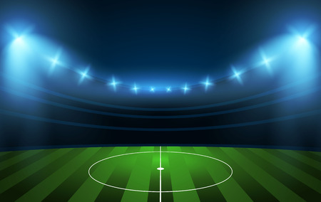 Football stadium. Soccer arena. Illustration