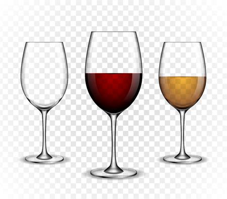 ワイン ワイングラスをモックアップします。  イラスト・ベクター素材