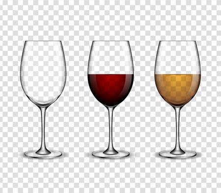 와인 와인 잔 모의 일러스트