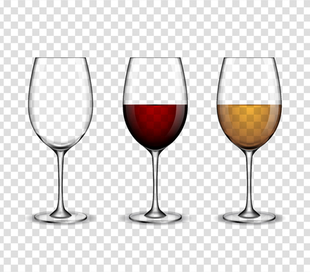 Mock up wine wineglass