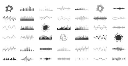 Set von Vektor-Audio-Skalen.