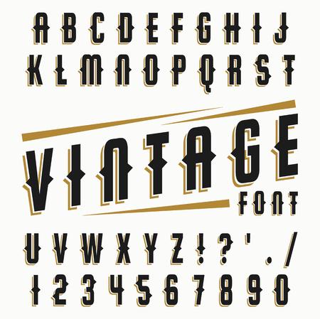 Vector set of vintage font.
