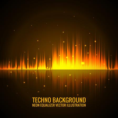 Vector audio scales. Illustration