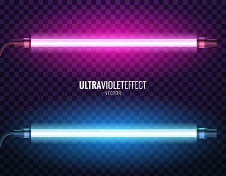 Vector of ultraviolet light. Stock Illustratie