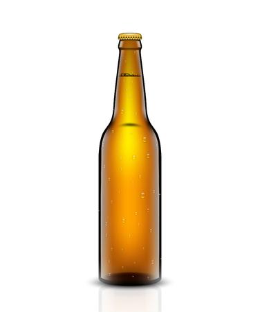 Beer bottle set. Vector illustration.