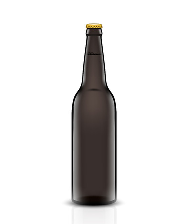 Conjunto de vector de botella de cerveza . Foto de archivo - 95048457