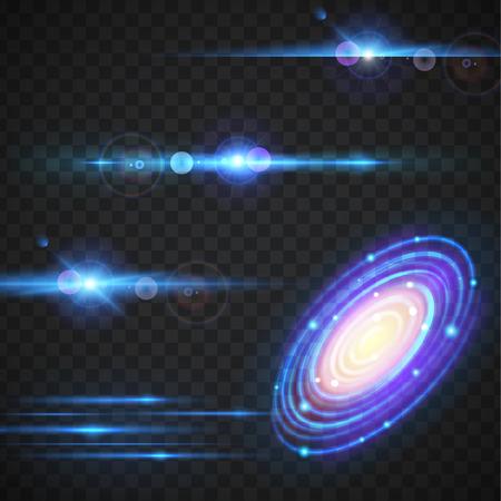 Milky way vector effect.