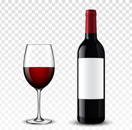 Wine bottle vector illustration. Illustration