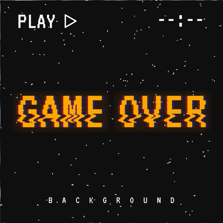 Game over background. Illustration