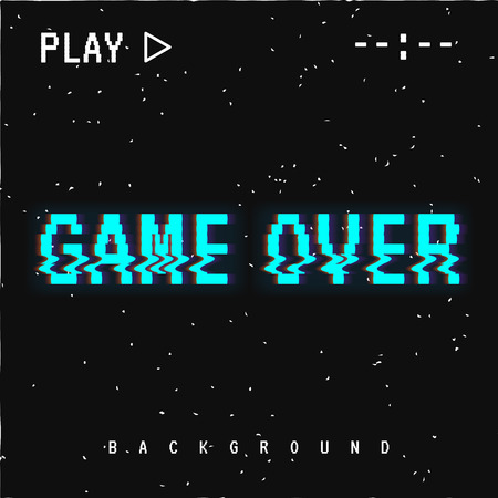 Game over background. Иллюстрация