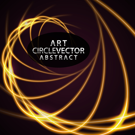 Circular lens flare.