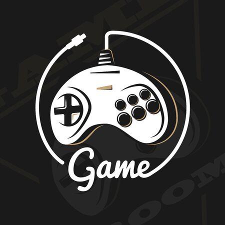 Vector gamepad logo.