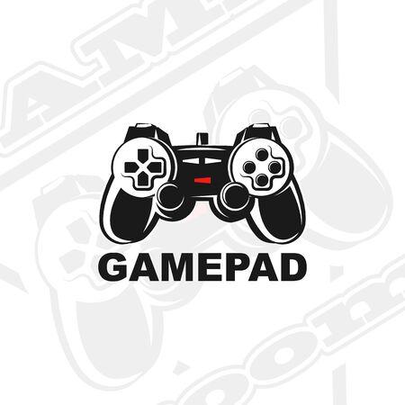 Logo de manette de jeu vectoriel. Logo