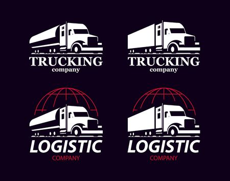 Vector truck logo.