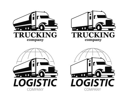 Vector truck logo. Illustration