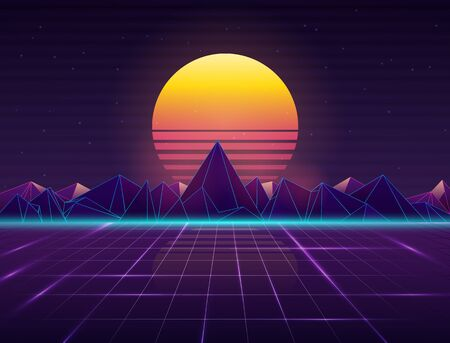 Background in style 80s.