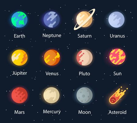 Vector planet of the solar system.