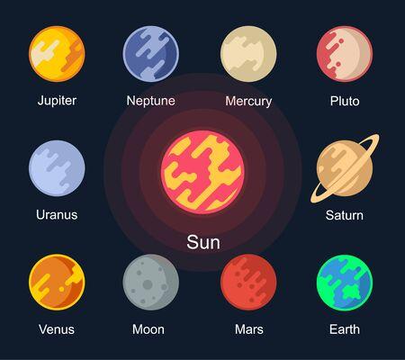 Vektorplanet des Sonnensystems.