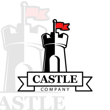 Vector logo castle.