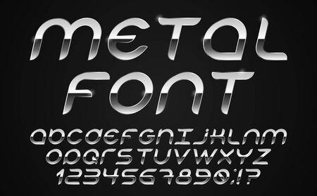Font 80s vector.