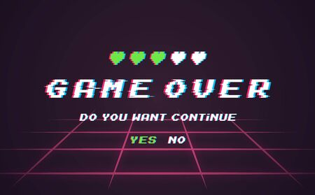 Game over background. Иллюстрация