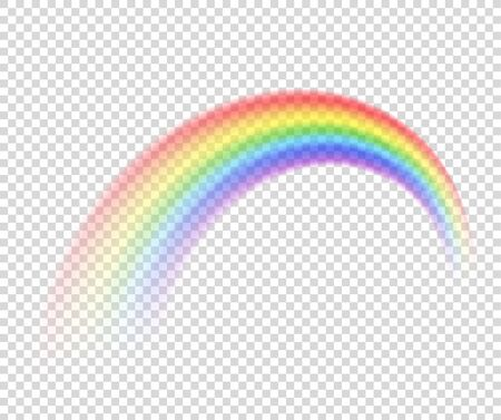 Vector rainbow on a transparent background. Foto de archivo - 138298039