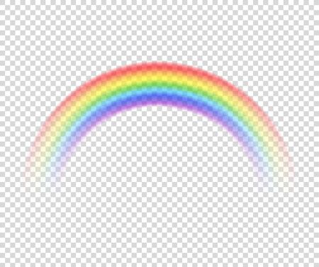 Vector rainbow on a transparent background.