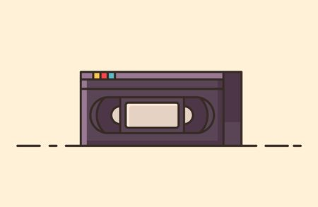 Vintage object from the 80s and 90s. Symbol of pop culture and nastolgia. Old-time technology from the entertainment industry. Ilustração