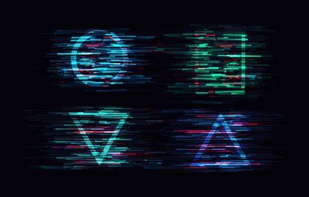 Glitch vector background. Vektorové ilustrace