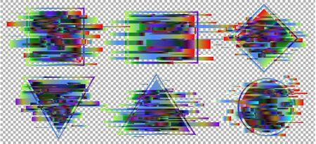 Glitch vector background.