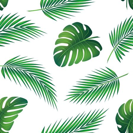 Tropical seamless pattern. Ilustración de vector