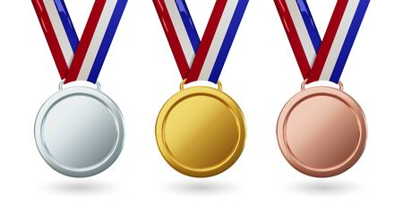 Set vector gold medal.