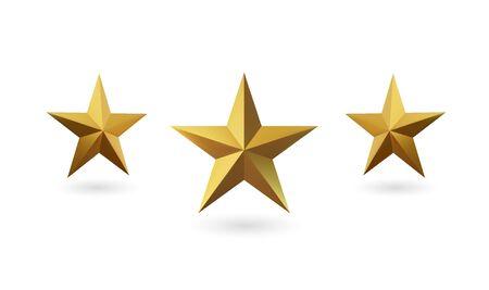 Vector golden star. Vector Illustratie