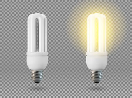 Vector Isolated light bulb.