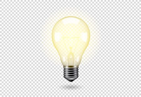 Vector Isolated light bulb. Standard-Bild - 147666136