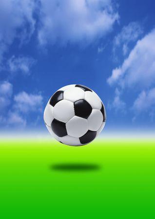 kickball: football - penalty kick, focus on ball