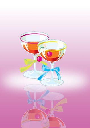 quench: illustration of different summer drinks on a table