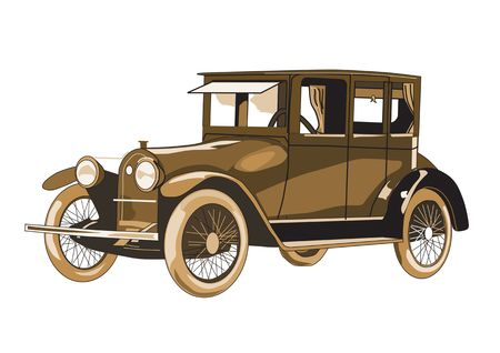 Copper antique car isolated on a white background Stock Photo - 1208523