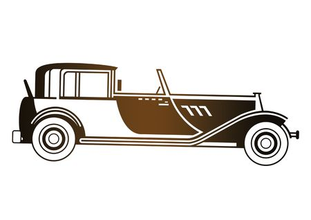 Copper antique car isolated on a white background photo