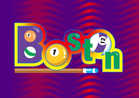 snooker room: Colorful segno con le palle da biliardo (snooker) palla