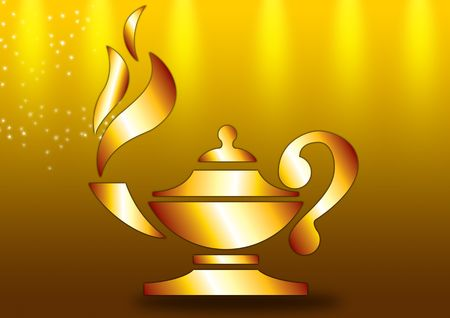 oil lamp: Aladdins golden Lamp