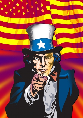 uncle sam: Uncle Sam in the classic I Want You pose as poster
