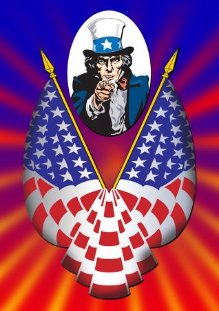 Uncle Sam in the classic I Want You pose Stock Photo - 2247400
