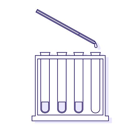 immunological: Vector illustration of immunological tests. Vector outlined illustration.