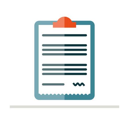 prescription pad: Prescription pad icon. Medical prescription vector illustration. Prescription in flat style. Rx prescription form.