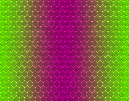 Green and magenta gradient snake skin seamless pattern, flat scale