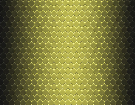 Metallic yellow and brown gradient snake skin seamless pattern, flat scale Stock Photo