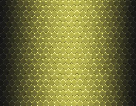 Nahtloses Muster der metallischen gelben und braunen Steigung der Schlangenhaut, flache Skala Standard-Bild